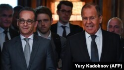 Ռուսաստանի և Գերմանիայի ԱԳ նախարարներ Սերգեյ Լավրով և Հայկո Մաաս, Մոսկվա, 10-ը մայիսի, 2018թ․