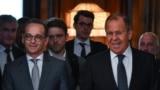 Germaniýanyň daşary işler ministri Heiko Maas (ç) we Orsýetiň daşary işler ministri Sergeý Lawrow, Moskwa, 10-njy sentýabr, 2018.