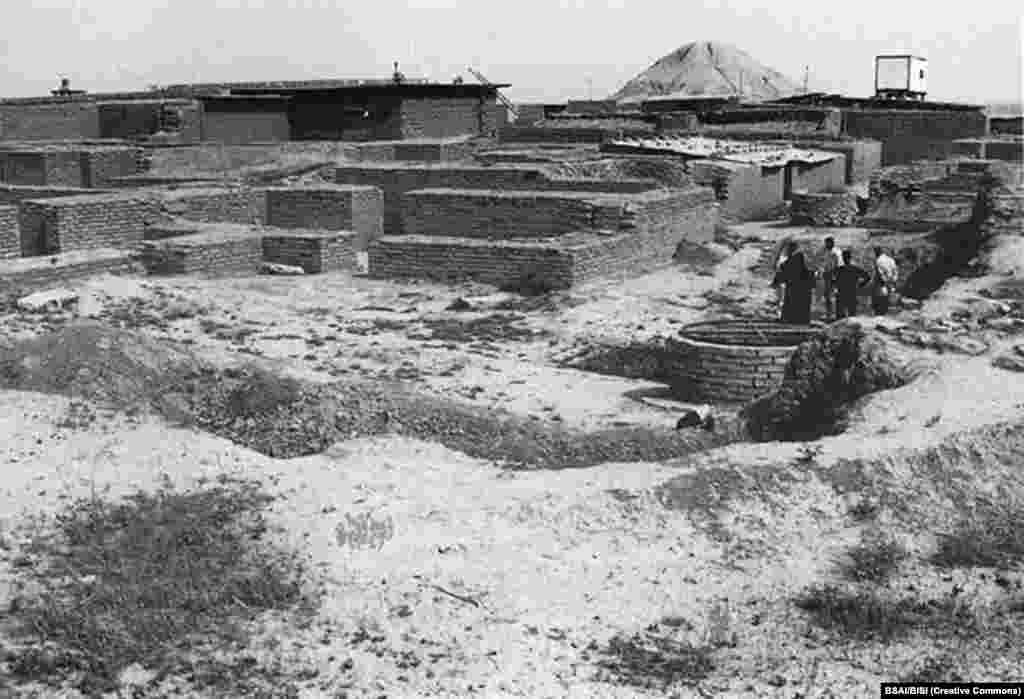 An excavation of the palace of Ashurnasirpal II, an Assyrian king of the 9th century BC.