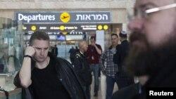 فرودگاه بینالمللی بن گوریون در نزدیکی تلآویو در اسرائیل