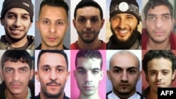 Обвиняемые в причастности к нападениям в Париже в ноябре 2015 года.