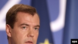"""The Strasbourg Court...cannot and should not replace Russian justice,"" Medvedev said."