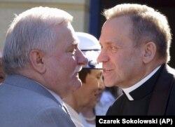 Лех Валенса и Генрик Янковский в Гданьске, 18 июня 2005 года
