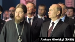 Епископ Тихон (Шевкунов) и президент России Владимир Путин
