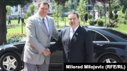 Milorad Dodik i Ivica Dačić u Banjaluci, 10. juli 2013.