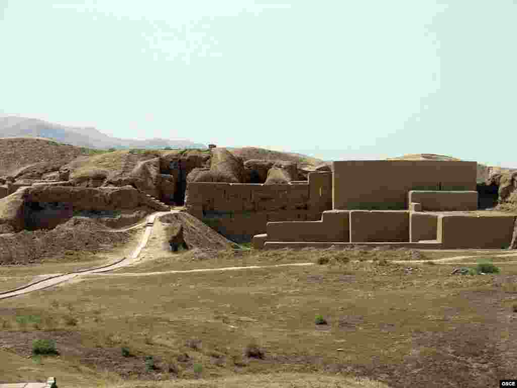 The remains of the ancient city of Nisa, the capital of the ancient Parthian Empire, near Ashgabat
