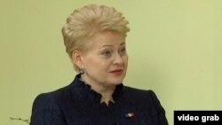 Литва президенті Даля Грибаускайте. Кишинев, Молдова 22 сәуір 2015 жыл.
