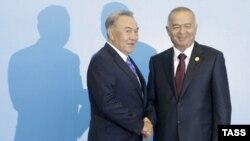 Nursultan Nazarbaev və Islam Karimov - 2011