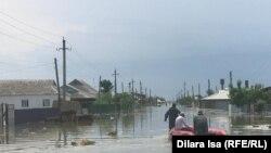 Эвакуация, өлген мал, суда жүзген жылқы. Мақтарал ауданындағы су басқан ауылдар