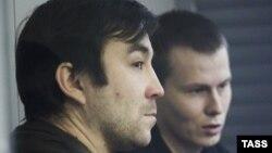 Евгений Ерофеев и Александр Александров во время заседания в Голосеевском районном суде Киева, 3 декабря 2015