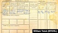 Pagină din dosarul penal din Arhivele CNSAS