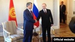 Путин встречается с президентом Киргизии 16 марта