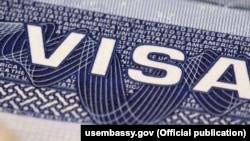 A USA Visa Label. Undated. Courtesy of usembassy.gov
