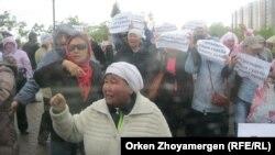 Акция протеста дольщиков проблемного жилого объекта. Иллюстративное фото.