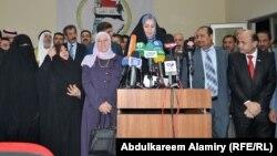 أعضاء في إئتلاف البصرة أولاً في مؤتمر صحفي