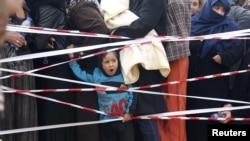 نازحون سوريون في مدينة عرسال الحدودية بين سوريا ولبنان