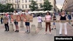 Acțiune în sprijinul lui Sențov, la Cracovia, Polonia
