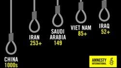 عفو بینالملل: ایران با ۲۵۳ اعدام مسئول یکسوم کل اعدامهای جهان در سال ۲۰۱۸