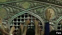 Pilgrims at the shrine of Shiite Imam Reza in Mashhad Iran. FILE PHOTO