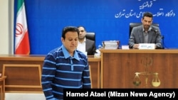 Hossein Hedayati, a former IRGC officer and a billionaire involved in Sarmayeh Bank corruption case in the court March 18, 2019.