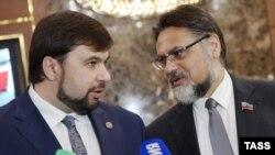 Денис Пушилін (Л) та Владислав Дейнего