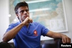 Один из лидеров венесуэльской оппозиции Леопольдо Лопес третий месяц находится в военной тюрьме