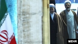 "Ali Akbar Hashemi Rafsanjani (left), the ""Shark"" of Iranian politics"