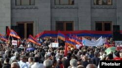 Armenia - The opposition Armenian National Congress holds a rally in Yerevan's Liberty Square.