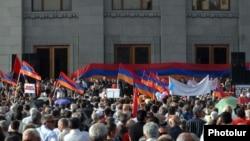 Митинг оппозиционного Армянского национального конгресса на площади Свободы в Ереване (архивная фотография)