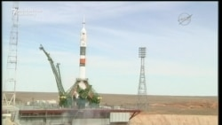 American and Russian Blast Off To International Space Station