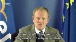 """Tusk: Orbánnal """"teljesen másképp gondolkodunk a demokráciáról"""""""