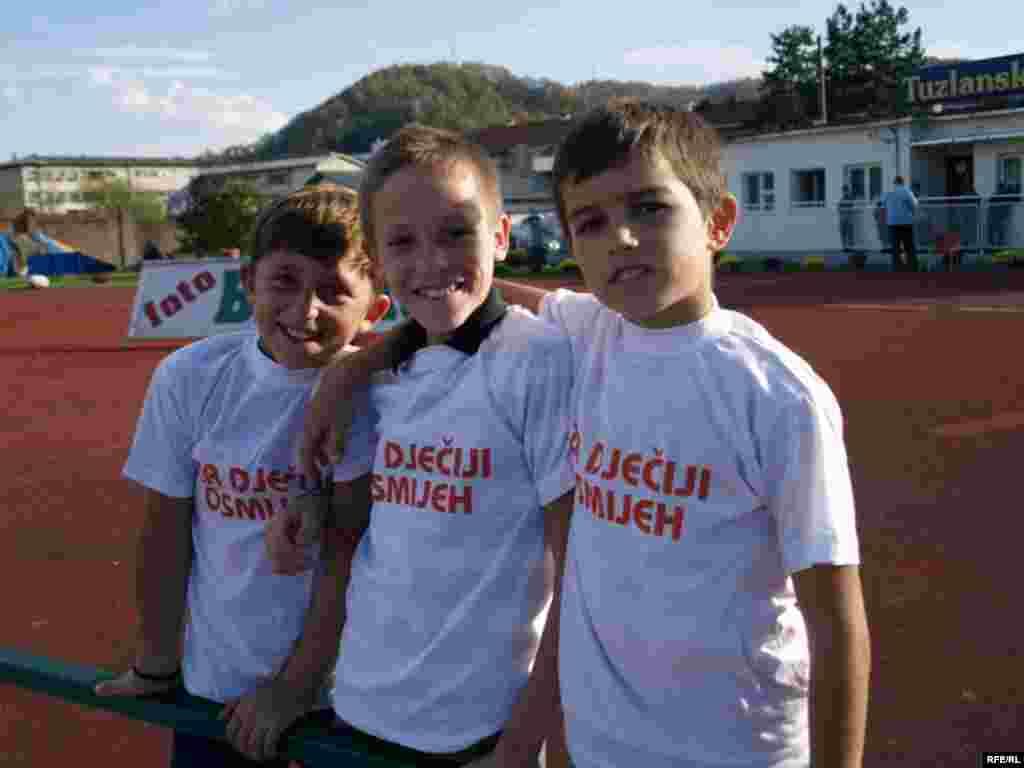 Djeca su uživala na nogometnoj utakmici...