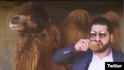 """Prophetic Medicine"" advocate drinking camel urine to prevent coronavirrus in an unkonwn location in Iran. April 2020."