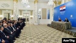 Bakıda keçirilən Azərbaycan-Xorvatiya biznes forumu. 25okt2016
