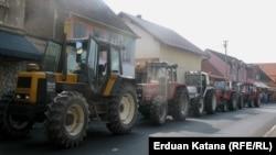 Jedan u nizu protesta poljoprivrednika u BiH