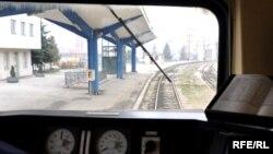 Željeznička stanica Sarajevo, pogled iz lokomotive, foto: Midhat Poturović