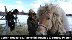 "Якутия, на съемках фильма ""Царь-птица"""