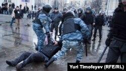 Прошлогодние беспорядки на Манежной площади в Москве, 11 декабря 2010