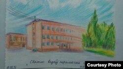 Адзін з турэмных малюнкаў Сяргея Ціханоўскага