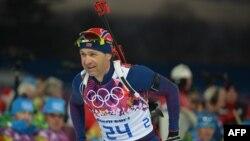Норвегиялык биатлон чебери Уле Эйнар Бьорндален Сочидеги мелдеште, 8-февраль.