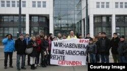 پناهجویان و پناهندگان اعتصاب غذا کننده در برن سوییس