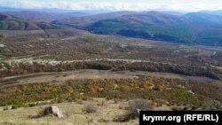Вид на Качинську долину з плато Тепе-Кермен
