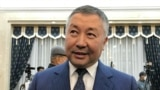 KYRGYZSTAN -- Kanat Isaev, the leader of the Kyrgyzstan political party and new speaker of the Kyrgyz parliament, attends an extraordinary parliamentary session in Bishkek, October 13, 2020