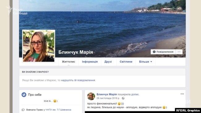 Профіль Марії Блинчук із Чернігова