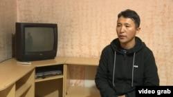Этнический казах из Китая Багашар Маликулы, который просит политического убежища в Казахстане. Алматы, 18 декабря 2019 года