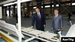 İ.Əliyev Naxçıvanda Gəmiqaya daş məhsulları kompleksinin açılışında