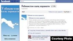 """""""O'zbekiston xalq harakati"""" nomli tashabbusning Facebook tarmog'idagi sahifasi."""
