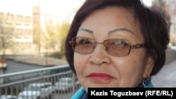 """Жемис Турмагамбетова, директор НПО """"Хартия за права человека"""". Алматы, 22 апреля 2014 года."""