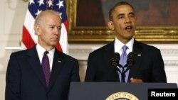 Presidenti Barack Obama dhe zëvendësi i tij, Joe Biden.