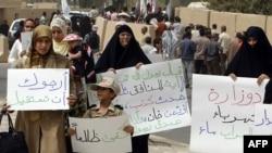 إحتجاجات نسوية على عدم توفر الكهرباء، آب 2009